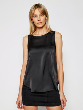 Silvian Heach Silvian Heach Bluză Vest Moneson PGP21785TO Negru Regular Fit
