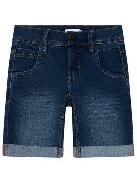 NAME IT NAME IT Džínsové šortky Sofus 13150022 Tmavomodrá Slim Fit