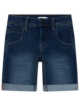 NAME IT NAME IT Pantaloni scurți de blugi Sofus 13150022 Bleumarin Slim Fit