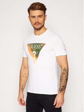 Guess Guess T-Shirt M0BI99 J1300 Weiß Slim Fit