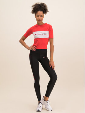 Tommy Sport Tommy Sport Marškinėliai Tight Tee S10S100397 Raudona Cropped Fit