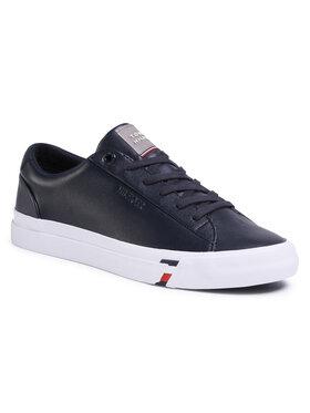 Tommy Hilfiger Sneakersy Corporate Leather Sneaker FM0FM02672 Tmavomodrá