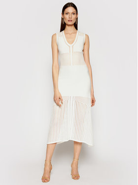 Pinko Pinko Hétköznapi ruha Capitano PE 21 BLK01 1G15QE Y6SZ Fehér Regular Fit