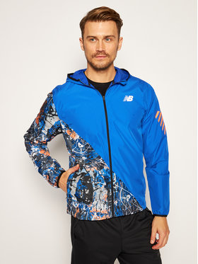 New Balance New Balance Větrovka Printed Fast Flight Jacket MJ03216 Tmavomodrá Regular Fit