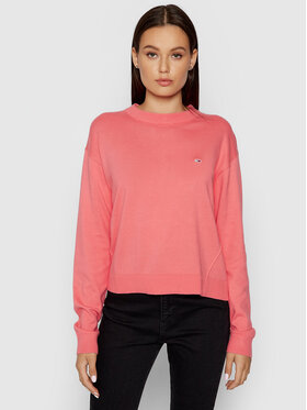 Tommy Jeans Tommy Jeans Pull DW0DW09984 Rose Relaxed Fit