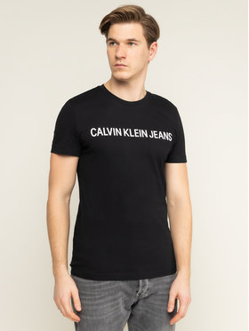 Calvin Klein Jeans Calvin Klein Jeans T-Shirt Core Institutional Logo J30J307855 Schwarz Regular Fit