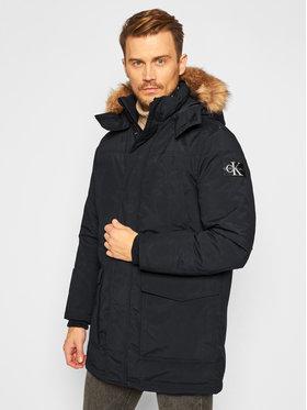 Calvin Klein Jeans Calvin Klein Jeans Striukė Fur Trimmed J30J316661 Juoda Regular Fit