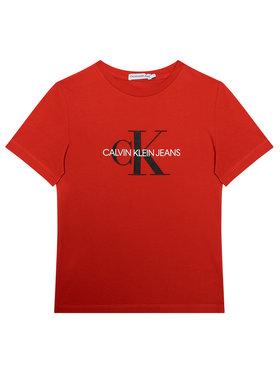 Calvin Klein Jeans Calvin Klein Jeans Tričko Monogram Logo IU0IU00068 Červená Regular Fit