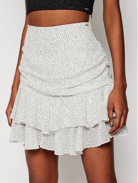 Guess Guess Spódnica mini W1GD0N WBUD2 Biały Regular Fit