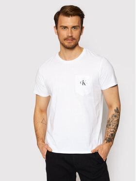Calvin Klein Jeans Calvin Klein Jeans T-Shirt J30J317294 Biały Slim Fit