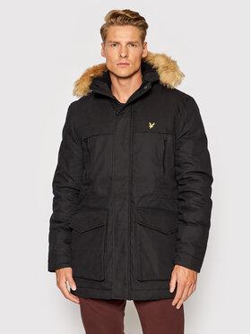 Lyle & Scott Lyle & Scott Parka Winter Weight Micro Fleece JK1536V Fekete Regular Fit