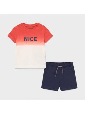 Mayoral Mayoral Komplet T-Shirt i szorty sportowe 1669 Kolorowy Regular Fit