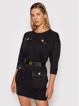 Elisabetta Franchi Elisabetta Franchi Плетена рокля AB-995-16E2-V390 Черен Slim Fit