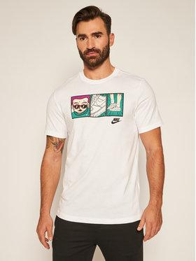 NIKE NIKE T-Shirt Nsw Tee Ftwr 1 Illustration CT6527 Bílá Standard Fit
