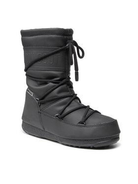 Moon Boot Moon Boot Μπότες Χιονιού Mid Rubber Wp 24010300 Μαύρο