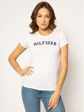 Tommy Hilfiger Tommy Hilfiger T-Shirt Print UW0UW00091 Biały Regular Fit