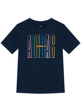 adidas adidas T-shirt Graphic Logo Print GN7406 Blu scuro Loose Fit