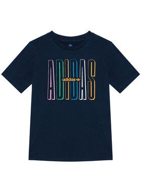 adidas adidas T-Shirt Graphic Logo Print GN7406 Granatowy Loose Fit