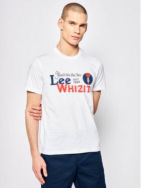 Lee Lee T-Shirt Heritage Tee L63QFQLJ Weiß Regular Fit