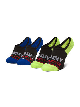 Tommy Jeans Tommy Jeans Sada 2 párů dámských ponožek 100000402 Černá