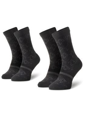 NIKE NIKE Σετ 2 ζευγάρια ψηλές κάλτσες unisex CU0037 010 Μαύρο