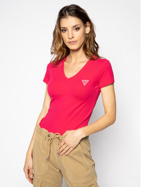 Guess Guess T-Shirt Mini Triangle Tee W0GI13 J1300 Różowy Slim Fit