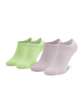 Tommy Hilfiger Tommy Hilfiger Sada 2 párů nízkých ponožek unisex 301390 Zelená