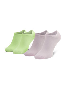 Tommy Hilfiger Tommy Hilfiger Set di 2 paia di calzini corti unisex 301390 Verde