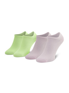 Tommy Hilfiger Tommy Hilfiger Unisex trumpų kojinių komplektas (2 poros) 301390 Žalia