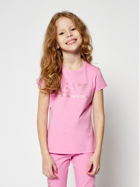 EA7 Emporio Armani EA7 Emporio Armani T-shirt 6HFT54 FJ5GZ 1404 Rose Regular Fit