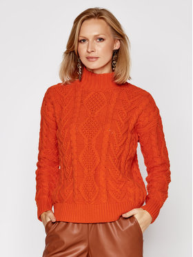 Lauren Ralph Lauren Lauren Ralph Lauren Sweter Mock 200808261 Pomarańczowy Relaxed Fit