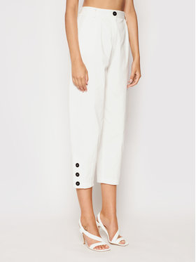 Imperial Imperial Spodnie materiałowe P2D0BNP Biały Relaxed Fit