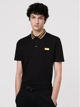 Hugo Hugo Тениска с яка и копчета Damago 50448861 Черен Regular Fit