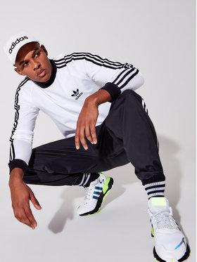 adidas adidas Longsleeve Adicolor Classics 3-Stripes GN3477 Biały Slim Fit