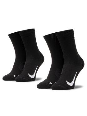 NIKE NIKE Sada 2 párů vysokých ponožek unisex SX7557 010 Černá