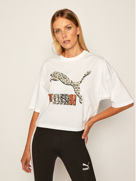 Puma Puma T-shirt Classics 597726 Bijela Loose Fit