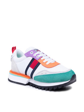 Tommy Jeans Tommy Jeans Sneakersy Abo Cleated Tommy Jeans Sneakers EN0EN01619 Biały