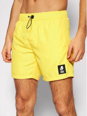 KARL LAGERFELD KARL LAGERFELD Szorty kąpielowe Basic KL21MBM01 Żółty Regular Fit