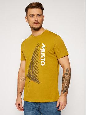 Musto Musto Marškinėliai Ocean Born 82060 Geltona Regular Fit