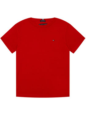 TOMMY HILFIGER TOMMY HILFIGER T-Shirt Essential KB0KB06130 D Czerwony Regular Fit