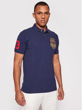 Polo Ralph Lauren Polo Ralph Lauren Polohemd Ssl 710835036001 Dunkelblau Custom Slim Fit