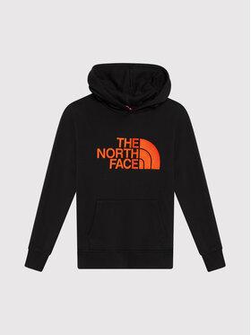 The North Face The North Face Majica dugih rukava Drew Peak P/O Hd NF0A33H41E31 Crna Regular Fit