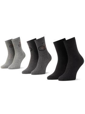 Mayoral Mayoral Súprava 3 párov vysokých detských ponožiek 10874 Sivá