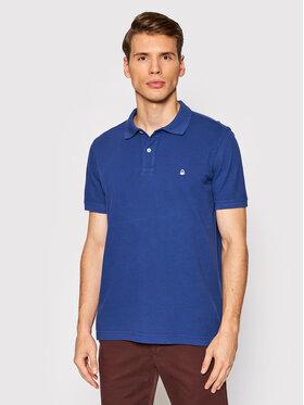 United Colors Of Benetton United Colors Of Benetton Тениска с яка и копчета 3089J3179 Тъмносин Regular Fit