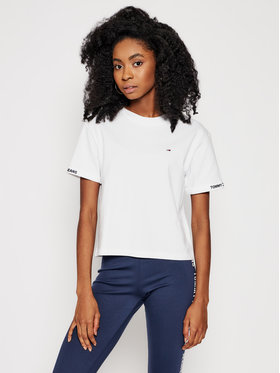 Tommy Jeans Tommy Jeans T-Shirt Crop Branded DW0DW10130 Bílá Regular Fit