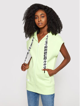 Guess Guess Bluză Long Zip O1GA60 KA3P1 Verde Regular Fit