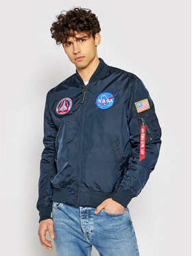 Alpha Industries Alpha Industries Μπόμπερ μπουφάν Ma-1 Nasa Reversible 186101 Σκούρο μπλε Regular Fit