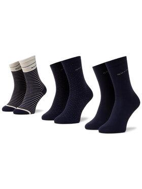 QUAZI QUAZI Set di 3 paia di calzini lunghi da donna QZ-SOCKS-65-04-WOMAN-003 Blu scuro