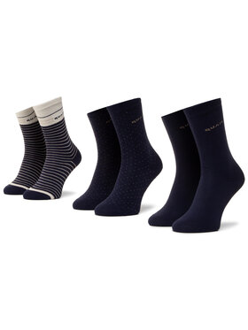 QUAZI QUAZI Set od 5 pari ženskih visokih čarapa QZ-SOCKS-65-04-WOMAN-003 Tamnoplava