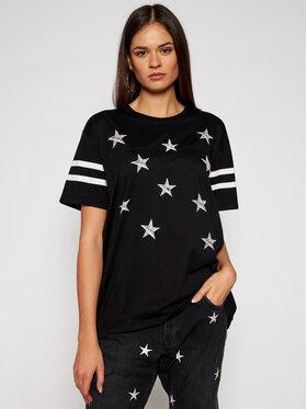 One Teaspoon One Teaspoon T-Shirt Stars Bf Sports Tee 23900 Μαύρο Regular Fit